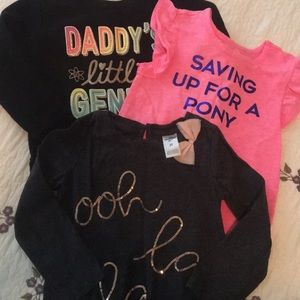 Bundle of 3 2t shirts and sweater